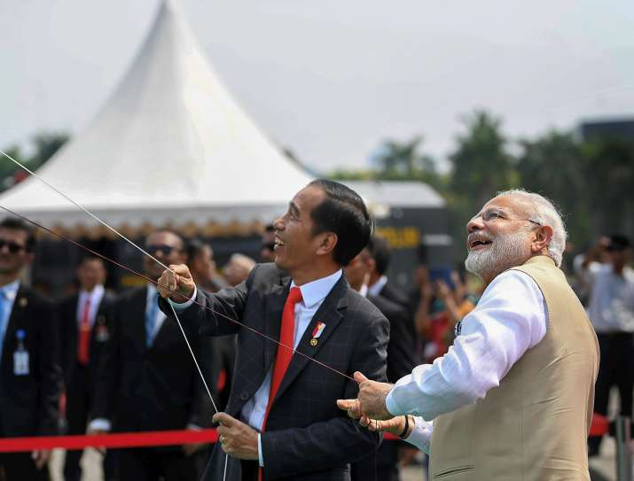 PM Narendra Modi with the newly elected Malaysian PM