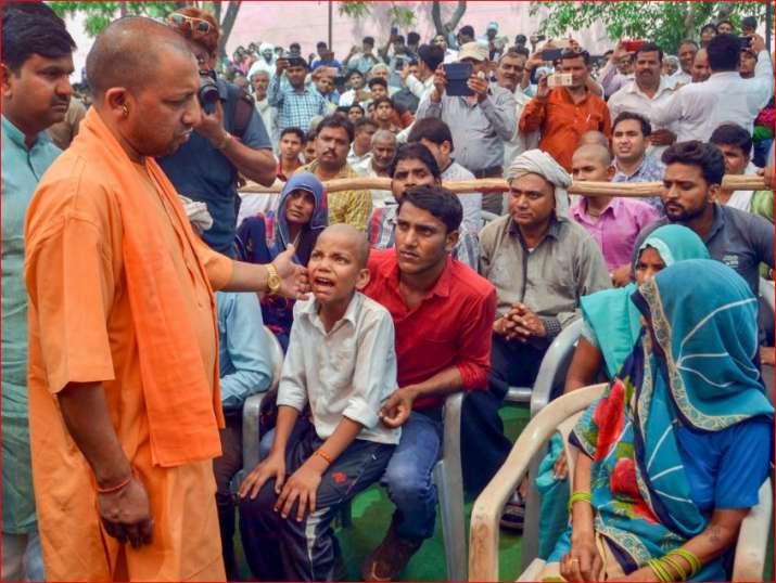 Uttar Pradesh Chief Minister Yogi Adityanath meets the