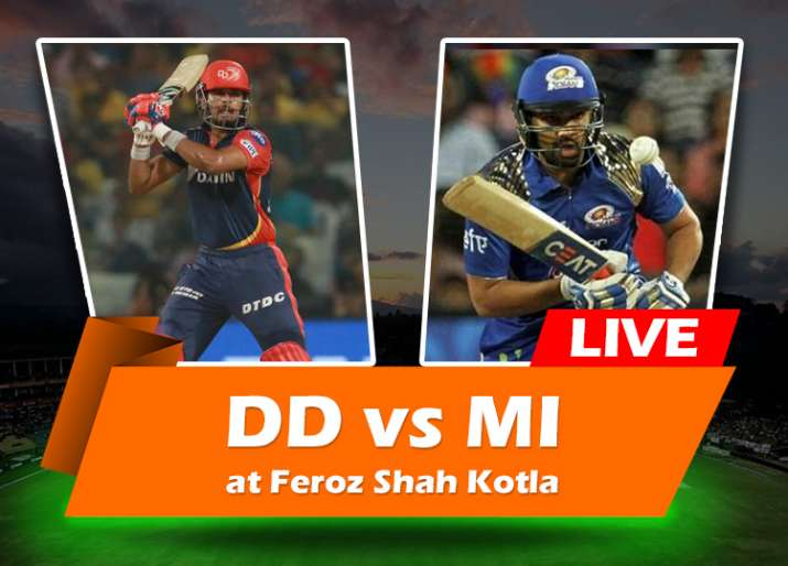 Live Cricket Match Watch Online, DD vs MI: Watch Vivo IPL