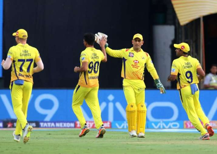 Chennai Super Kings in action
