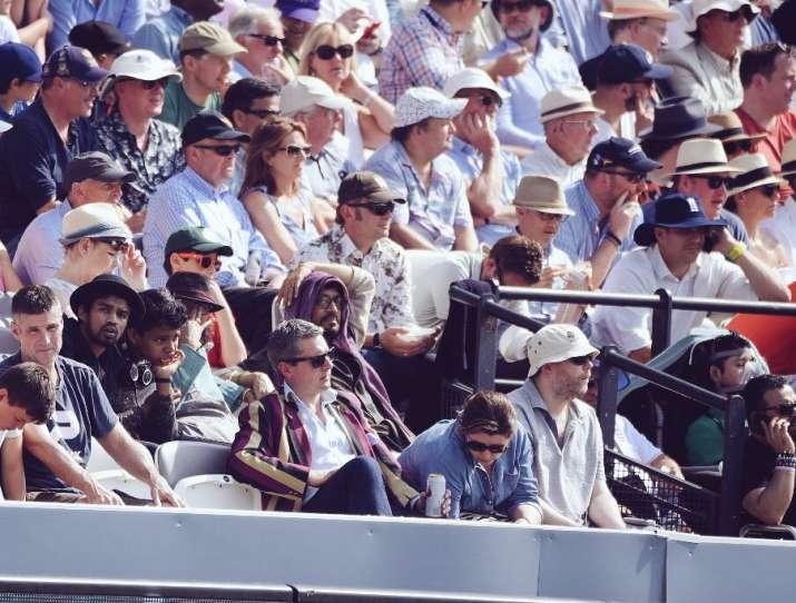 Is thatIrrfanKhan enjoying cricket match at Lords?