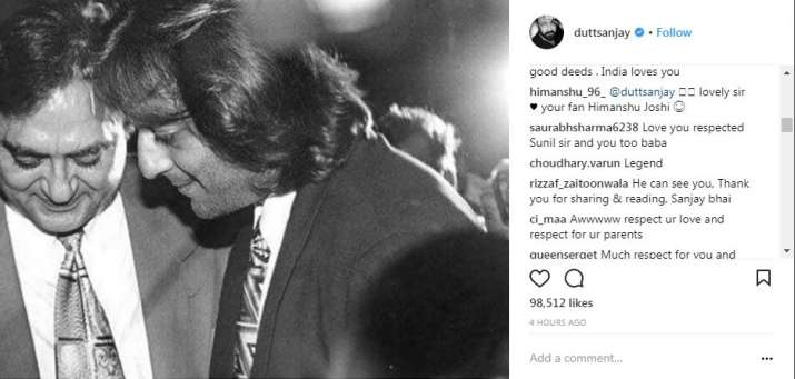 India Tv - Fans left emotional comments on Sanjay Dutt's Instagram post.