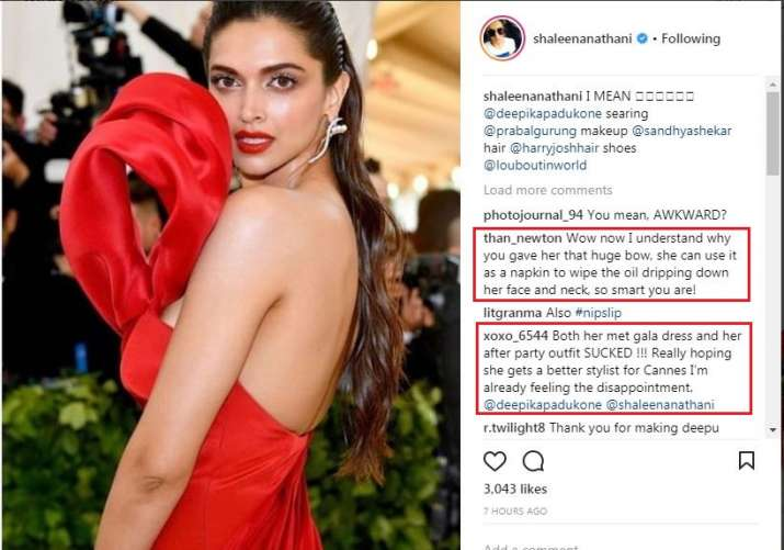 India Tv - Fans bash Shaleena Nathani for not following the theme of Met Gala 2018