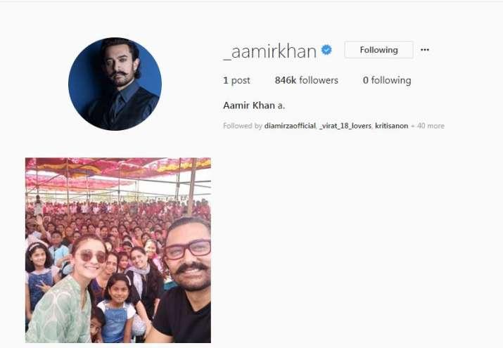 India Tv - Aamir Khan's Instagram profile