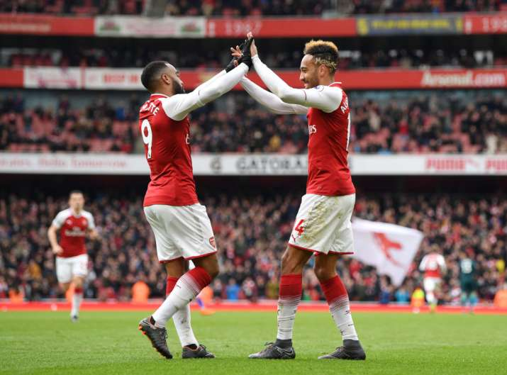 India Tv - Lacazette and Aubameyang have been in front of goal this season