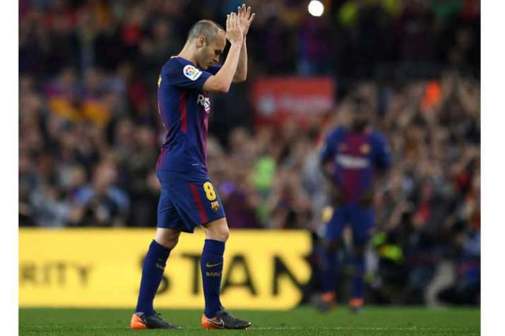 Andres Iniesta Set To Play Emotional Final Fc Barcelona Game At Camp Nou Soccer News India Tv