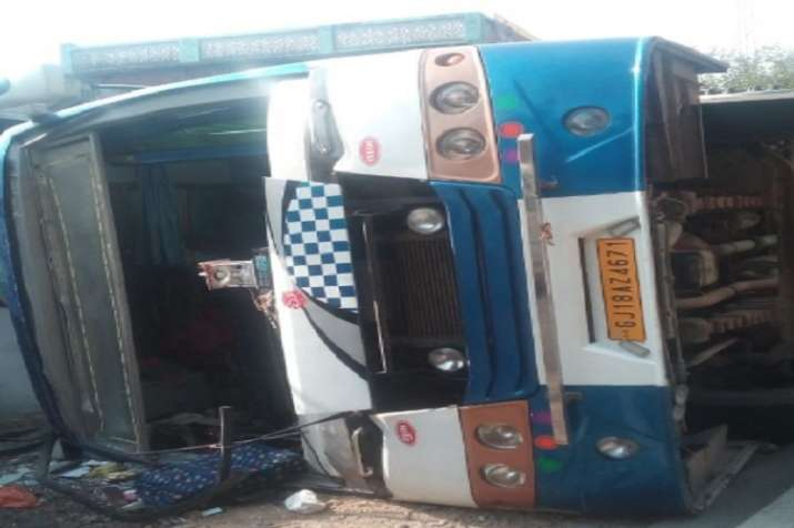 At least 20 tourists from Gujarat were injured in the road