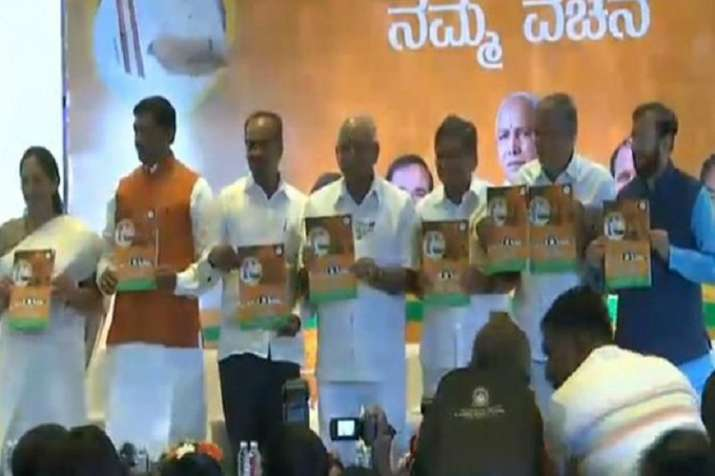 BJP releases its poll manifesto ahead of the Karnataka