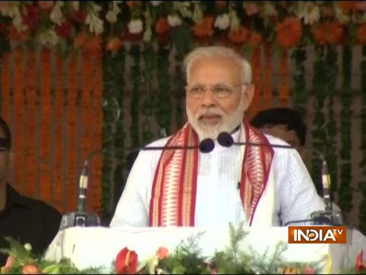 PM Modi addresses rally in Cuttack
