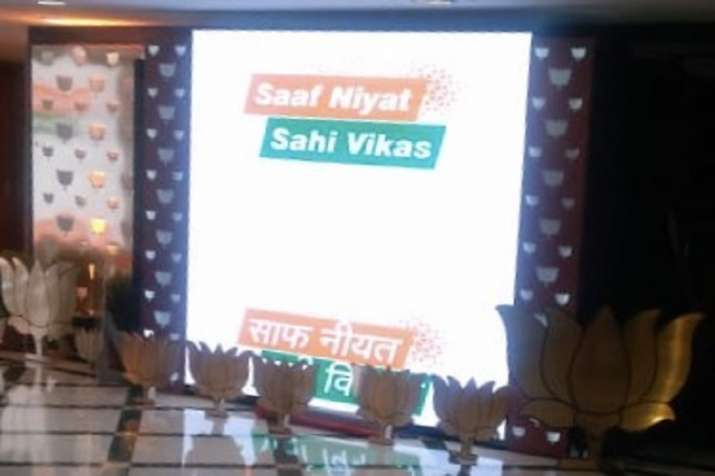 4 years of Modi Govt: BJP coins new slogan - 'Saaf Niyat