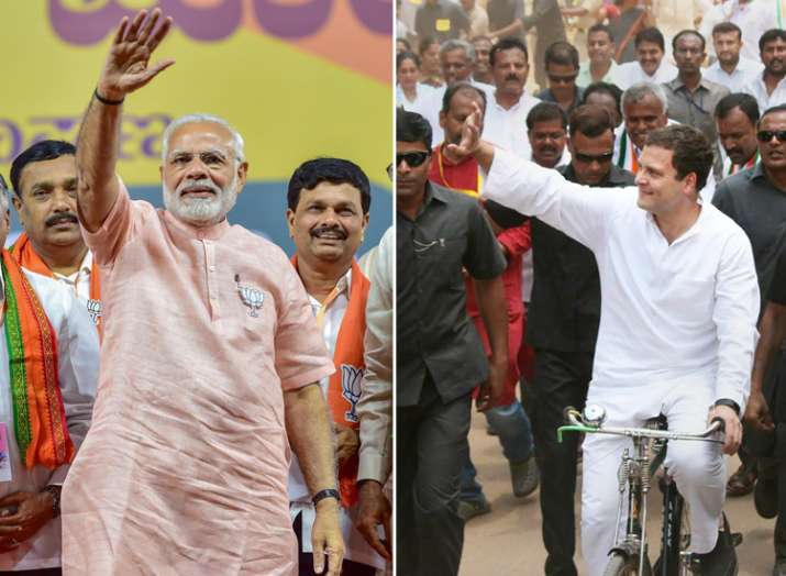 PM Modi and Rahul Gandhi campaigning in Karnataka