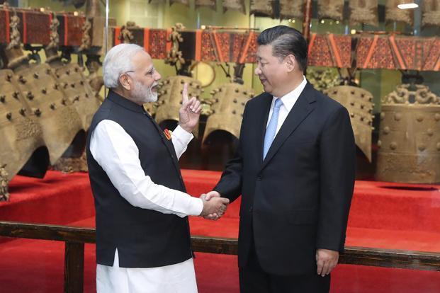 PM Modi with President Xi Jinping in Wuhan