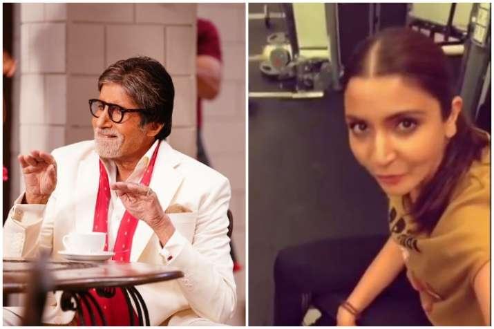 Amitabh Bachchan and Anushka Sharma accept fitness challenge