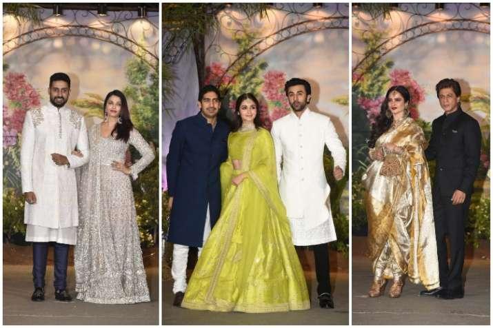 Sonam Kapoor Wedding Reception Alia Bhatt Aishwarya Rai Bachchan