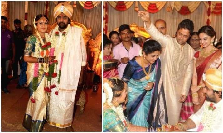 Kannada Stars Chiranjeevi Sarja And Meghana Raj Tie The Knot In Bengaluru See Pics And Videos Regional News India Tv