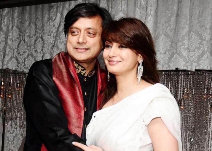 Sunanda Pushkar and Shashi Tharoor - File Photo