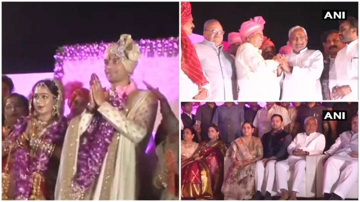India Tv - A galaxy of VIPs were also in attendance at the wedding ceremony at the sprawling veterinary college ground.