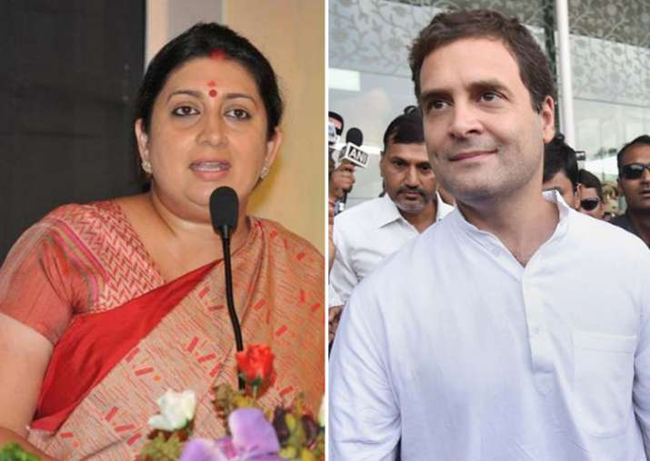 Smriti Irani and Rahul Gandhi