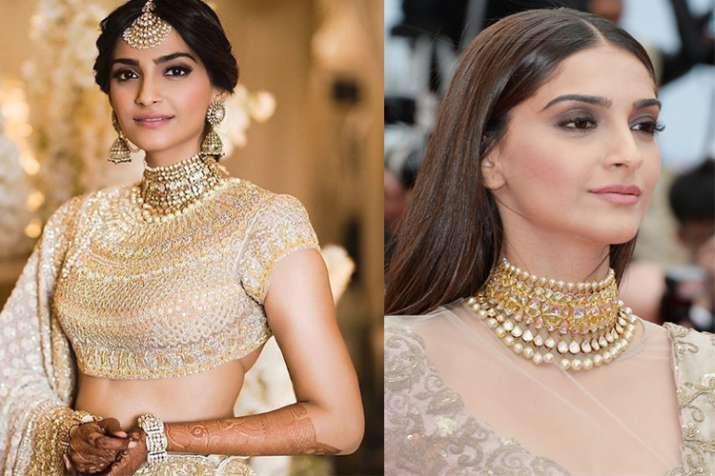 Sonam Kapoor's pre-wedding function: Veere Di Wedding star repeats her Cannes jewellery on ...
