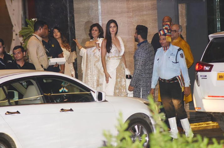 India Tv - Katrina Kaif leaving after Sonam's mehendi ceremony