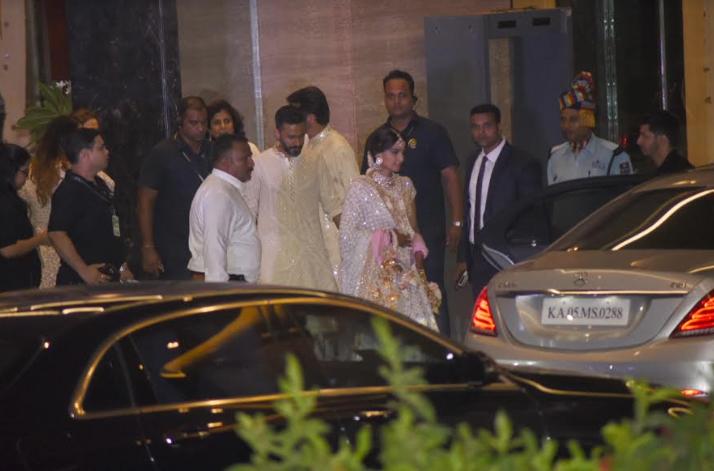 India Tv - Sonam Kapoor leaving the venue post her sangeet ceremony