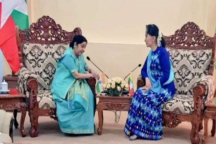 External Affairs Minister Sushma Swaraj held talks with