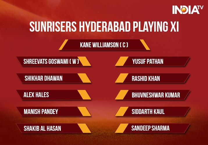 India Tv - Sunrisers Hyderabad Playing XI vs Delhi Daredevils