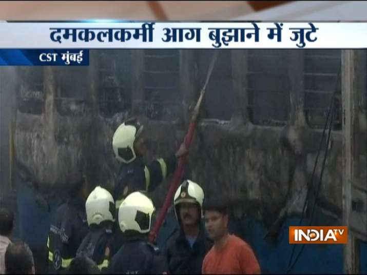 Fire breaks out in a coach parked at CST railway yard
