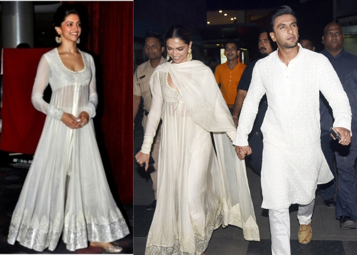 India Tv - Deepika Padukone repeated her white anarkali at Padmaavat screening