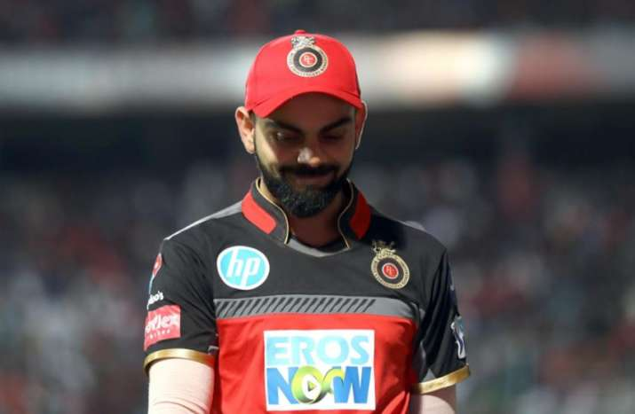 India Tv - Virat Kohli was also seen blushing at the ground when lady luck was around