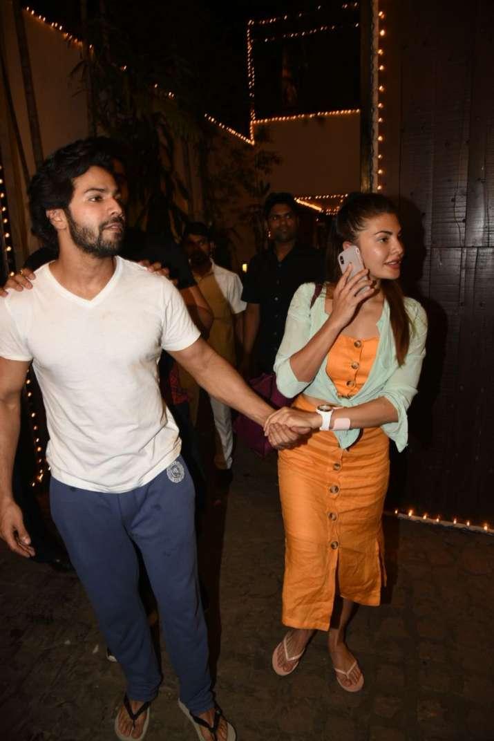 India Tv - Varun and Jacqueline atSonam Kapoor Anand Ahuja pre wedding bash