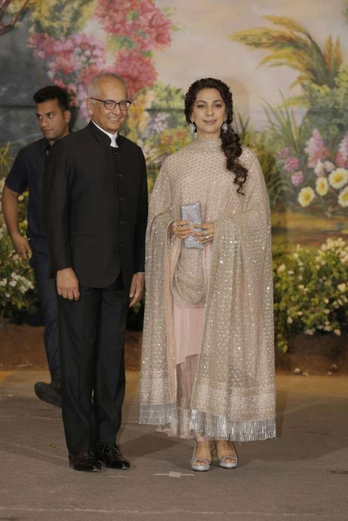 India Tv - Juhi Chawla with husband