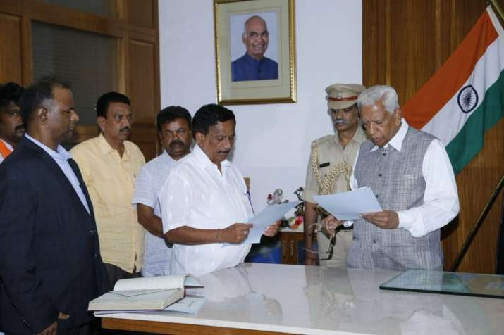 Karnataka Governor administers oath to BJP MLA Bopaiah as