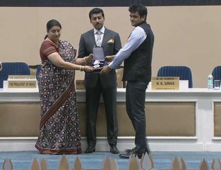 India Tv - Amit V Masurkar awarded with National Film Award for Best Hindi Film (Newton)