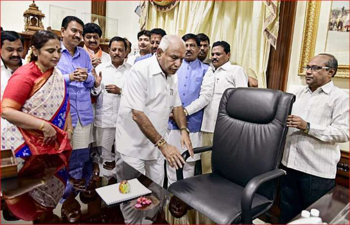 Newly sworn-in Karnataka Chief Minister B. S. Yeddyurappa