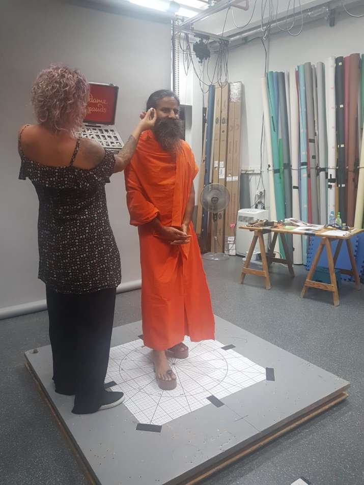 India Tv - Swami Ramdev gets measurement done in London