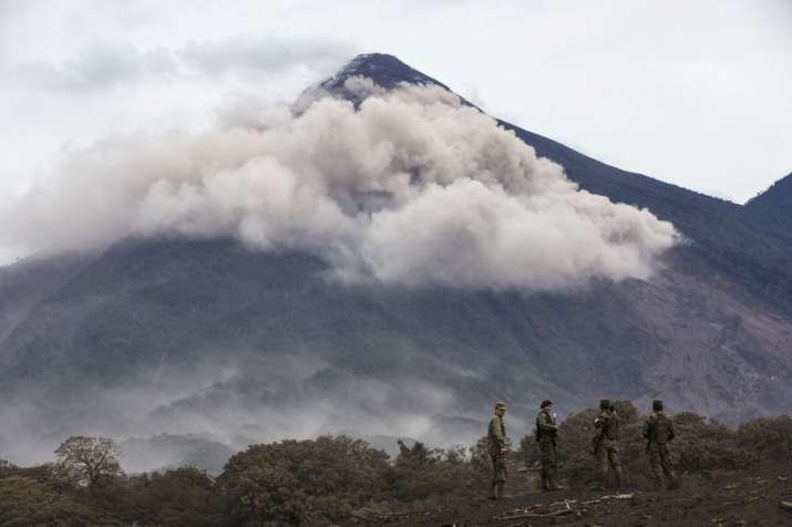 The Volcano of Fire continues to spew huge clouds of ash,