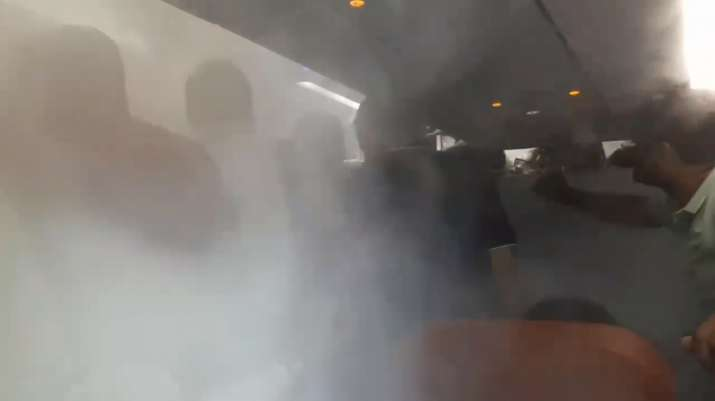 India Tv - In a video that he uploaded on his Facebook profile, it was seen that passengers were arguing with on-board staff to switch off the blower.