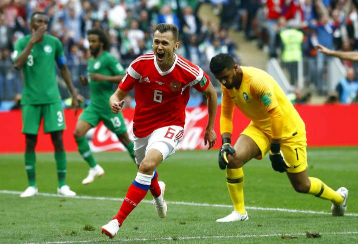 India Tv - Cheryshev shined for Russia with his brace