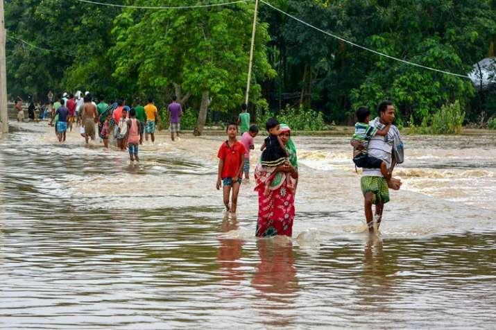 Heavy rainfall triggered landslide at Mahur, Harangajao,