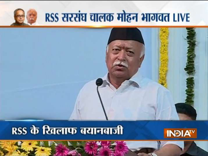 Mohan Bhagwat at RSS event