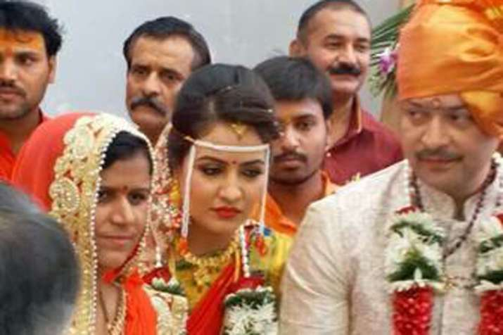 India Tv - Bhaiyyuji Maharaj had married Indore-based doctor Ayushi last year. (File Photo)