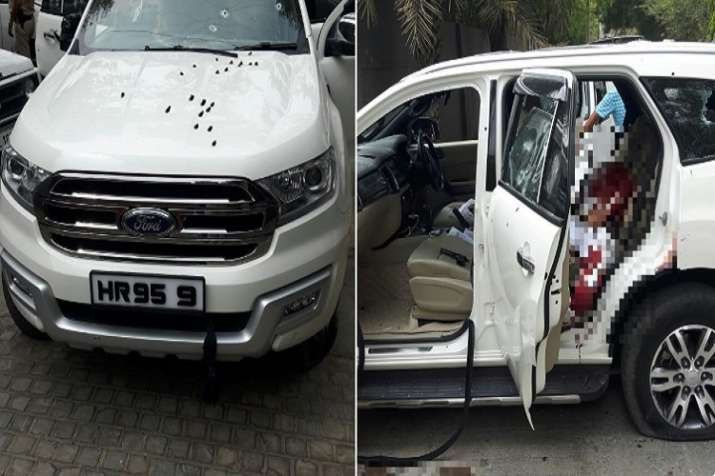 Gangster Rajesh Bharti along with his three aides was shot