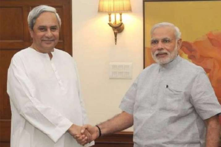 Odisha CM Naveen Patnaik with Prime Minister Narendra Modi.
