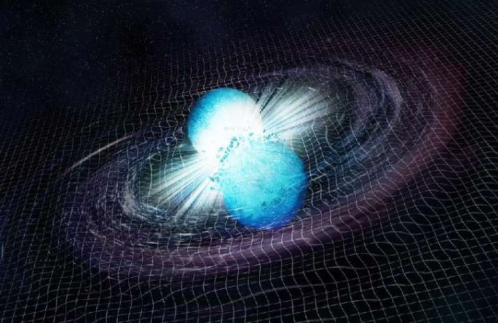 Collision of two neutrons estimated to form a low mass