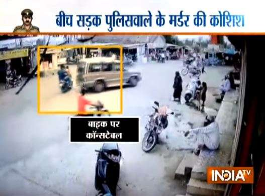 Car driver attempts to mow down police constable in