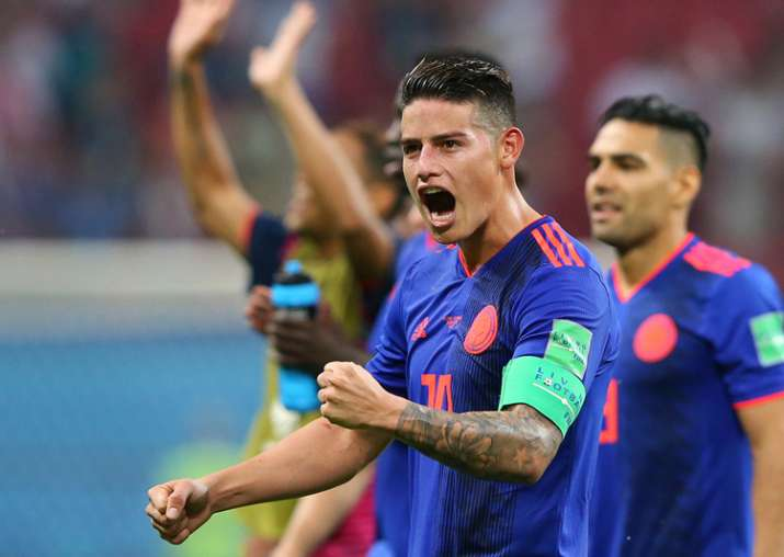 Colombian football player James Rodriguez.