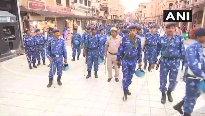 India Tv - Security personnel deployed around the Golden Temple