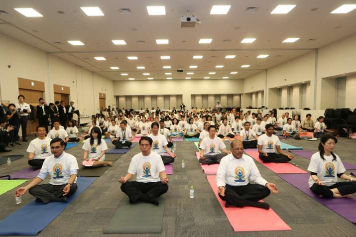 India Tv - International Yoga Day 2018 was celebrated on June 19 by the Indian Embassy in Japan.