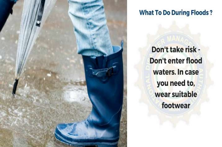 India Tv - Wear suitable footwear in case you cannot avoid stepping into the flood water